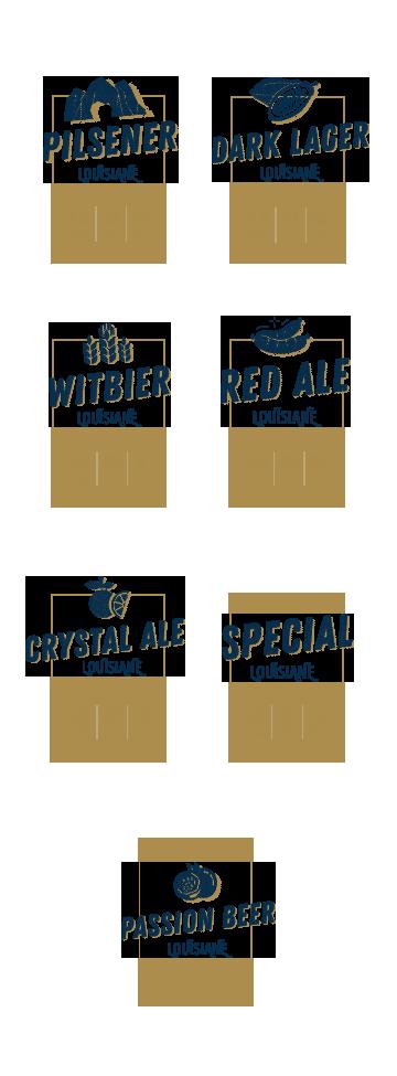 Louisiane Brewhouse Craft Beer Restaurant Beer Names Selection
